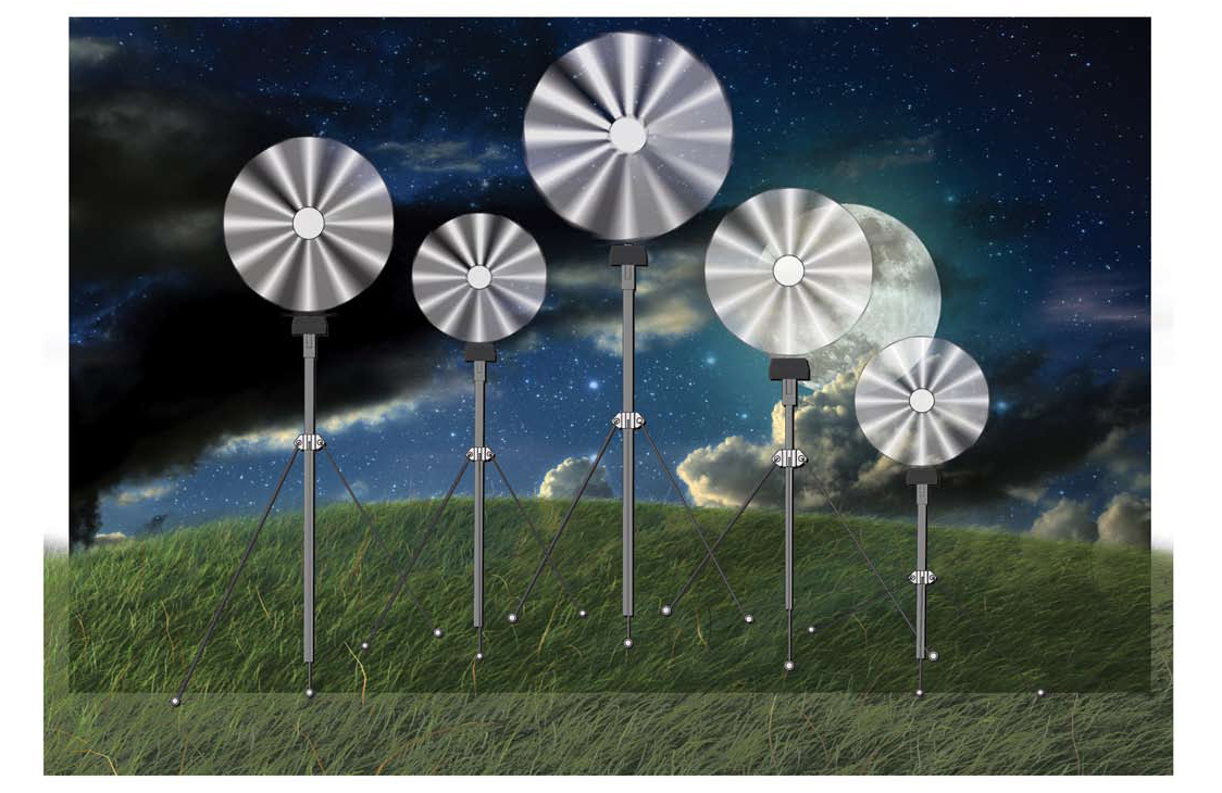 Wind powered projector